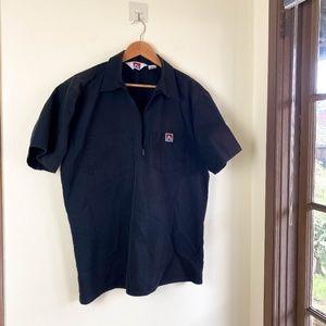 BEN DAVIS Workwear Half Zip Work Shirt Ripstop L